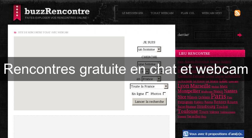 Rencontres gratuite en chat et webcam