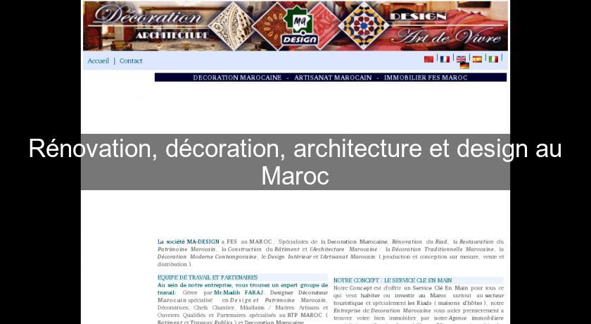 R novation d coration architecture et design au maroc for Architecture et design