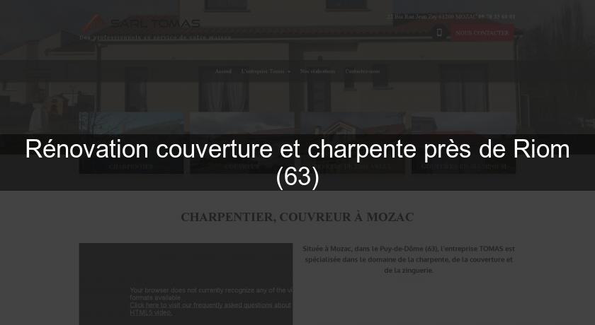 R novation couverture et charpente pr s de riom 63 couvreur - Meteo riom 63 ...