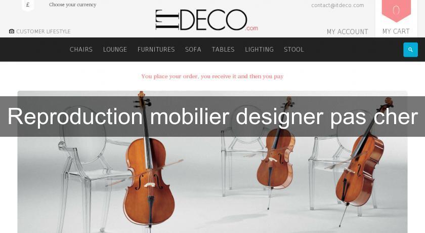 reproduction mobilier designer pas cher fabricant. Black Bedroom Furniture Sets. Home Design Ideas