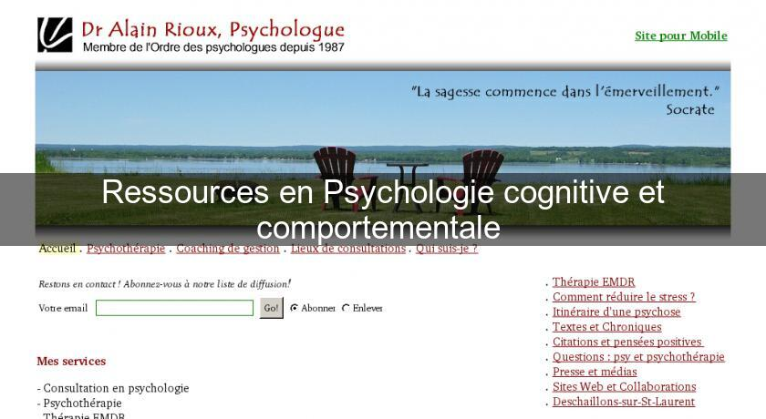 Ressources en Psychologie cognitive et comportementale