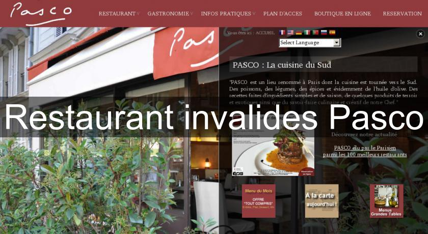Restaurant invalides Pasco