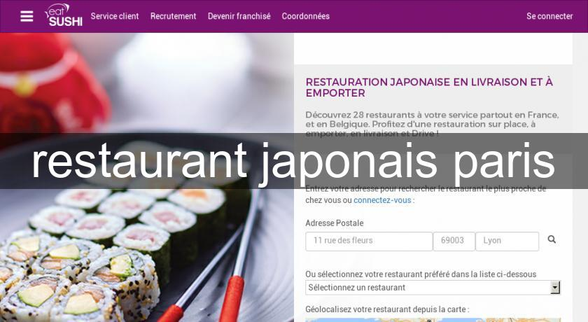 restaurant japonais paris
