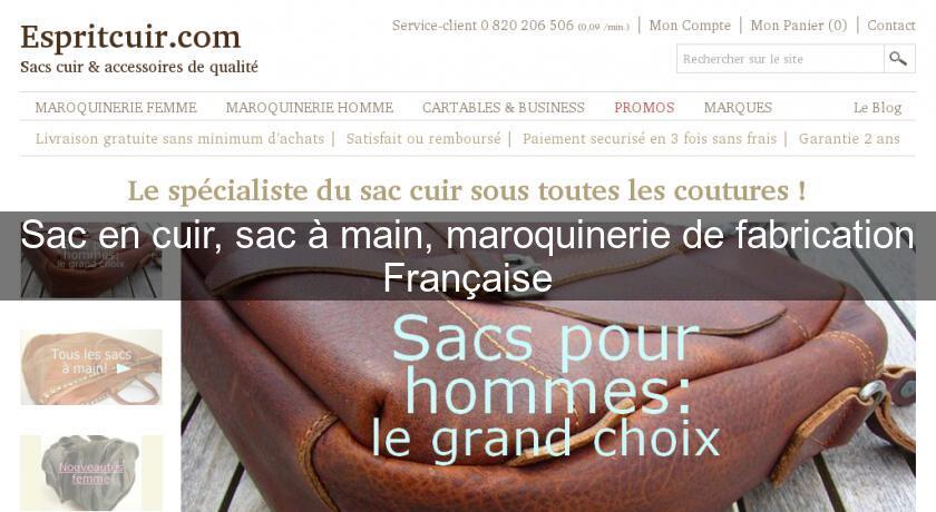 Sac en cuir, sac à main, maroquinerie de fabrication Française Maroquinerie 8b29e263eef