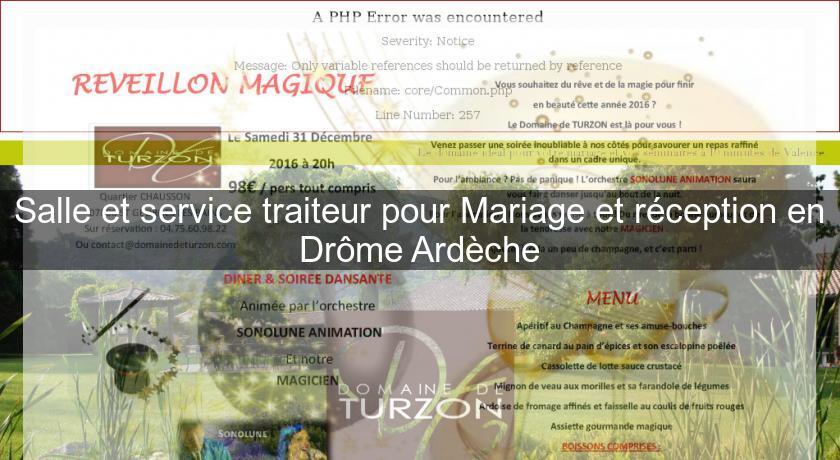 Salle Et Service Traiteur Pour Mariage Et Reception En Drome