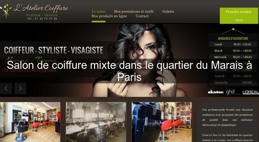 Salon de coiffure mixte dans le quartier du marais paris for Annuaire salon de coiffure