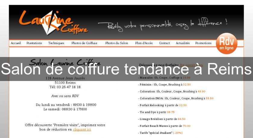 Salon de coiffure tendance reims coiffure for Annuaire salon de coiffure