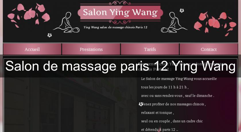 Salon de massage paris 12 Ying Wang