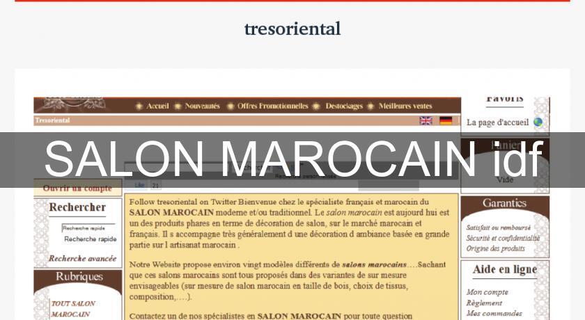 Salon marocain idf d coration du monde for Film marocain chambre 13 en ligne