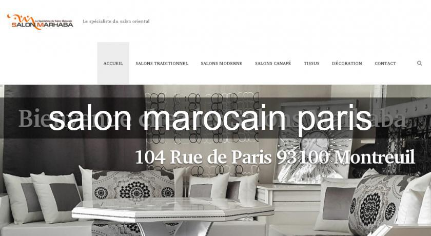 Salon marocain paris canap for Salon voyance paris
