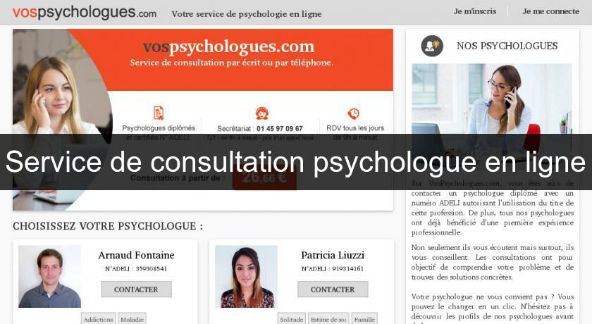 Service de consultation psychologue en ligne