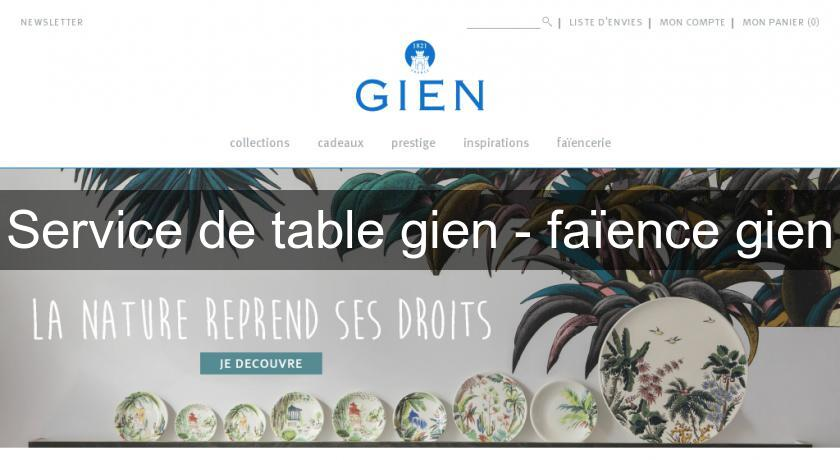 Service de table gien - faïence gien