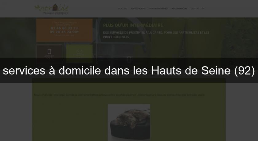 Services domicile dans les hauts de seine 92 garde - Chambre de commerce hauts de seine ...