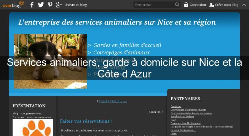 Services Animaliers Garde à Domicile Sur Nice Et La Côte D