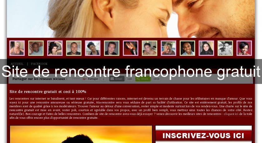 Site rencontre francophone canada