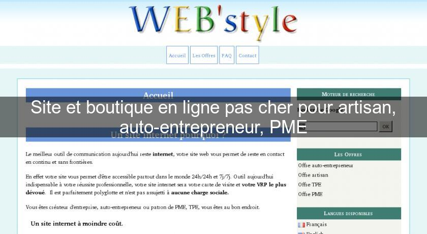 Site Et Boutique En Ligne Pas Cher Pour Artisan Auto Entrepreneur PME Professionel Spcialis