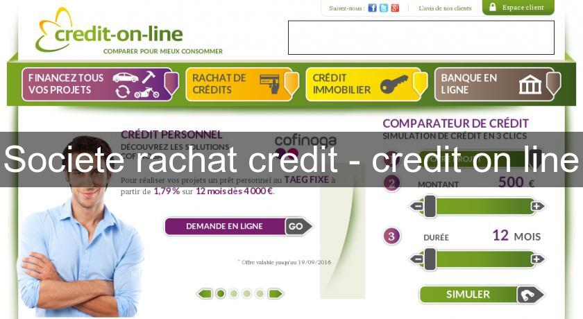 Societe rachat credit - credit on line