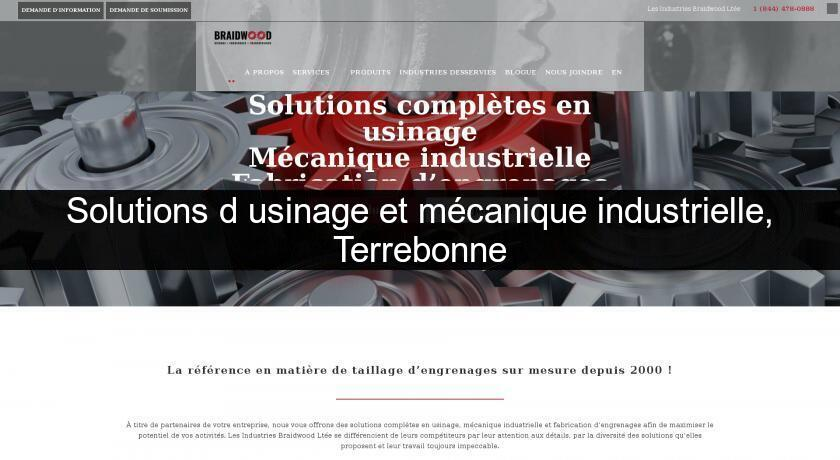 Solutions d'usinage et mécanique industrielle, Terrebonne