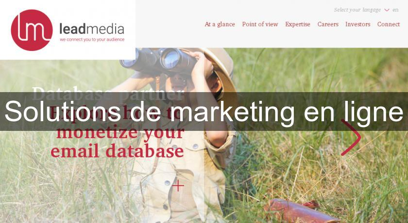 Solutions de marketing en ligne