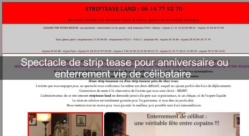 Spectacle De Strip Tease Pour Anniversaire Ou Enterrement Vie De Celibataire Spectacle
