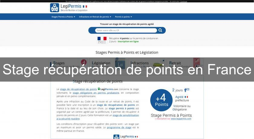 Stage récupération de points en France