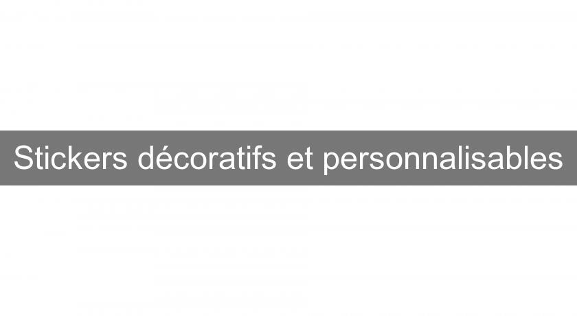 stickers d coratifs et personnalisables id e d coration. Black Bedroom Furniture Sets. Home Design Ideas