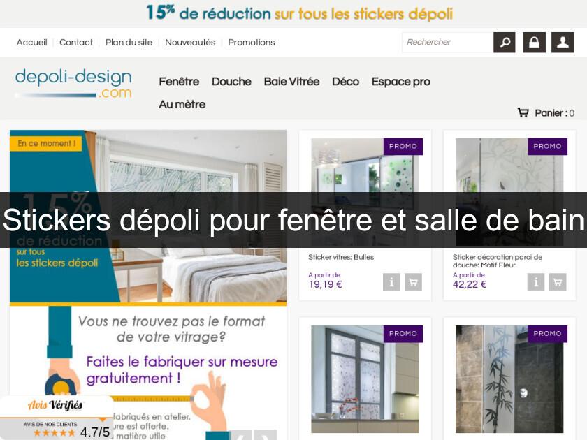 Stickers Dépoli Pour Fenêtre Et Salle De Bain Décoration Intérieure