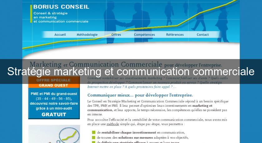 Stratégie marketing et communication commerciale