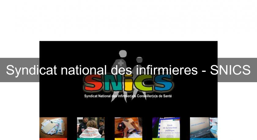Syndicat national des infirmieres - SNICS
