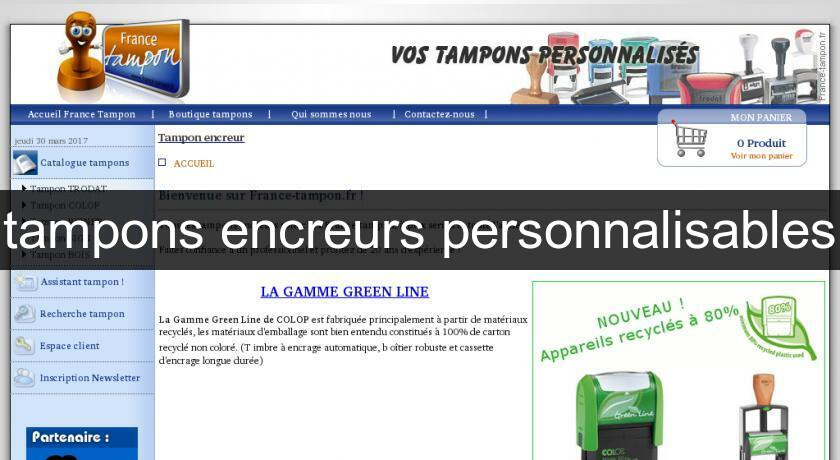 tampons encreurs personnalisables