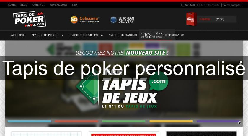 Tapis De Poker Personnalise Jeux De Cartes