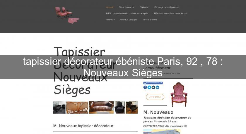 tapissier d corateur b niste paris 92 78 nouveaux si ges artisan restaurateur. Black Bedroom Furniture Sets. Home Design Ideas