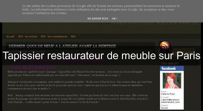 Tapissier Restaurateur De Meuble Sur Paris Tapisserie