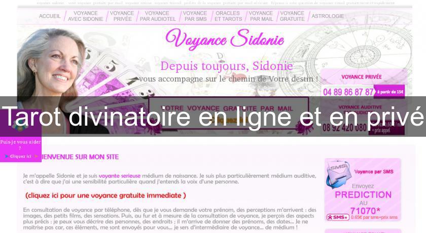 Tarot divinatoire en ligne et en privé Voyance 66df30d7033c