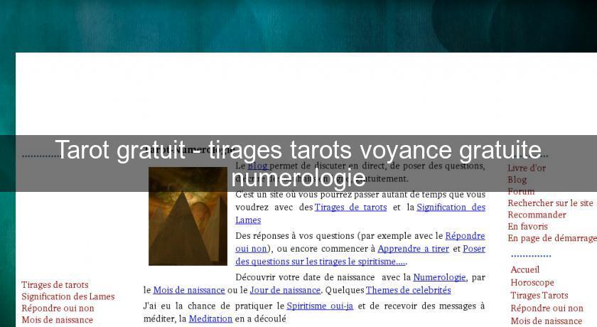 adc45934282e1 Tarot gratuit - tirages tarots voyance gratuite numerologie Numérologie