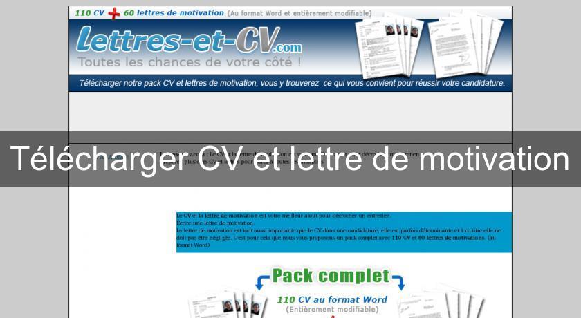t u00e9l u00e9charger cv et lettre de motivation emplois et formations