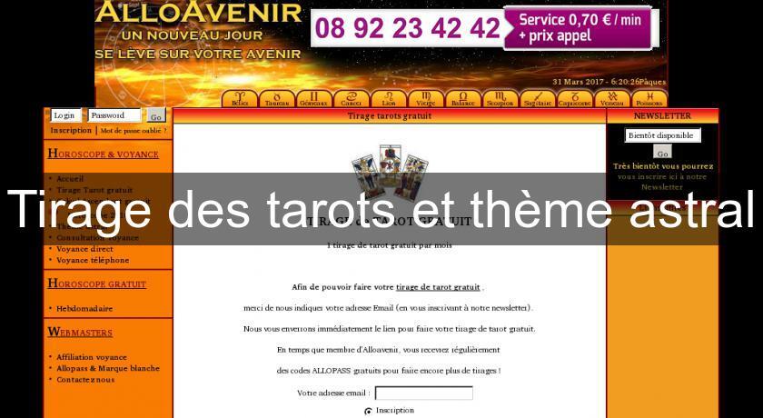 3001dc9b2963a Tirage des tarots et thème astral Tarots