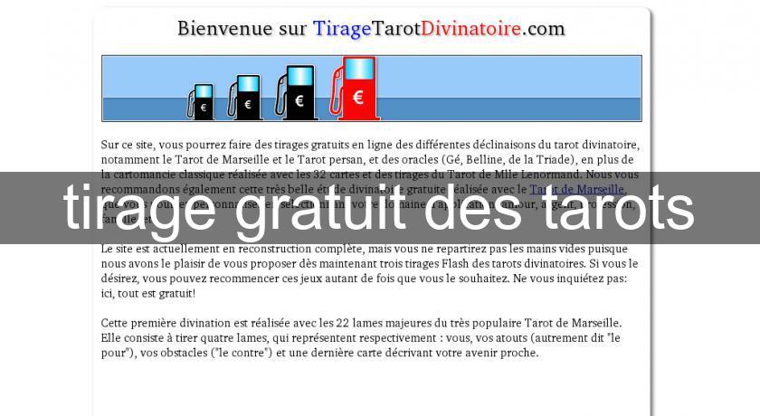 cc94b2196aed4e tirage gratuit des tarots Tarots