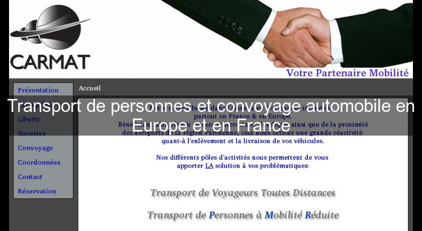 Transport de personnes et convoyage automobile en Europe et en France