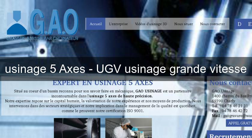 usinage 5 Axes - UGV usinage grande vitesse