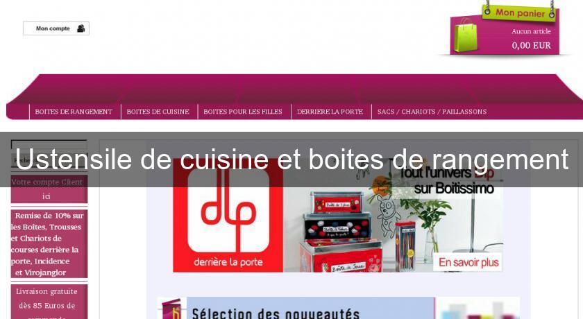 Ustensile de cuisine et boites de rangement accessoire cuisine for Boite ustensile cuisine