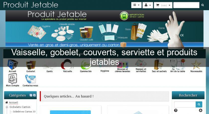 Vaisselle gobelet couverts serviette et produits for Grossiste vaisselle restaurant