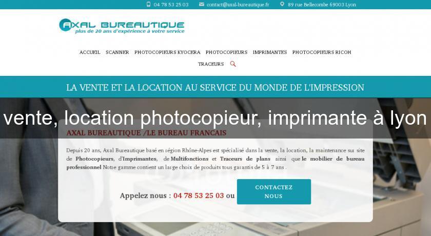 Vente Location Photocopieur Imprimante A Lyon Location De Materiel