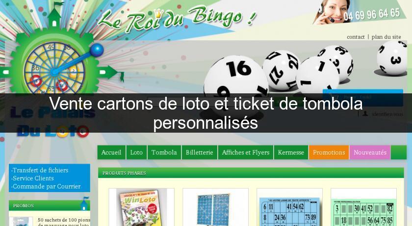 vente cartons de loto et ticket de tombola personnalis s loterie. Black Bedroom Furniture Sets. Home Design Ideas