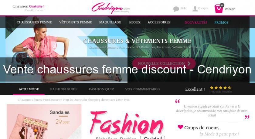 Vente chaussures femme discount - Cendriyon