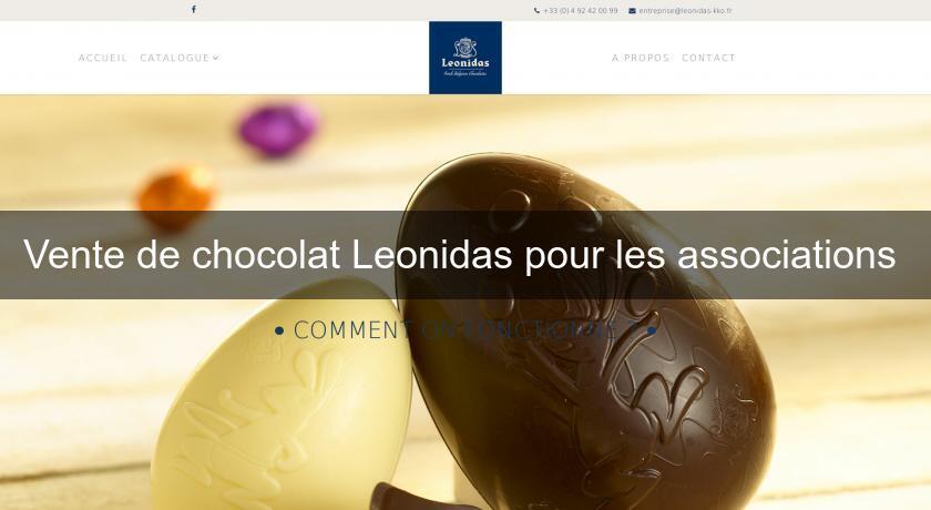 Vente De Chocolat Leonidas Pour Les Associations Chocolat