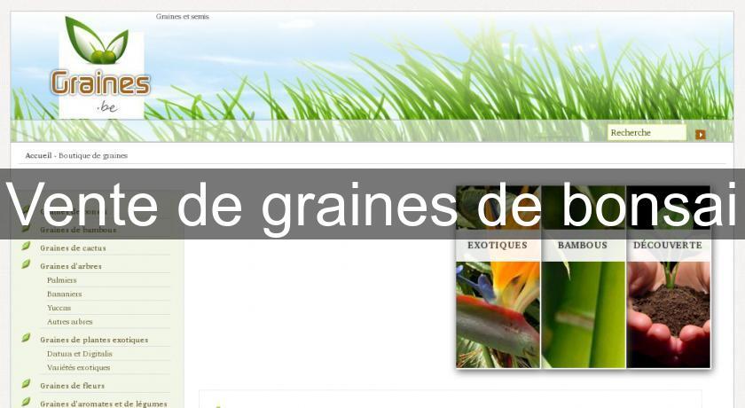 Vente de graines de bonsai plante fleurs et aromates for Site de vente de plantes
