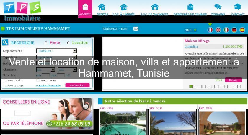 Vente et location de maison villa et appartement for Vente en location