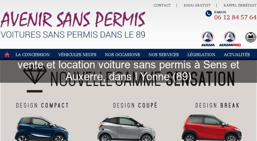 voiture sans permis yonne occasion. Black Bedroom Furniture Sets. Home Design Ideas