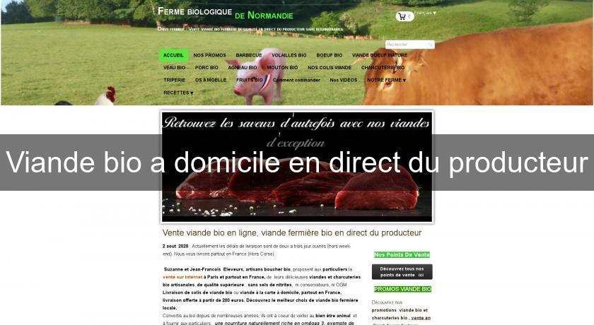 7daf9e00af8 Viande bio a domicile en direct du producteur Boucher
